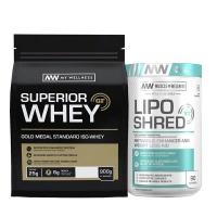 My Wellness Superior Whey 900g Vanilla Lipo Shred XT 90 caps Combo