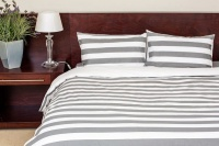 dreyer percale striped duvet cover set grey and white duvet cover