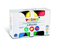 primo finger paint pots set of 6 colours kit