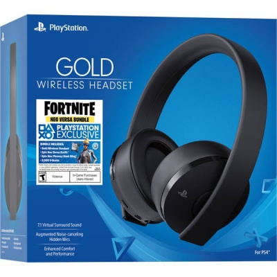 Photo of Sony PlayStation Gold 7.1 Wireless Headset Fortnite Neo Versa Bundle - Black
