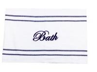 navy bath mat bathroom