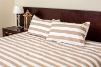 dreyer percale striped duvet cover set taupe and white duvet cover