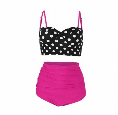 Pink Polka Dot Bra and Pants Set
