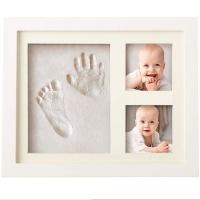 bubzi co baby handprint kit and footprint photo frame for tt frame