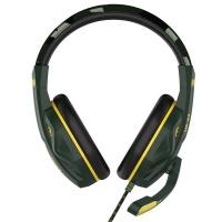 steelplay wired headset hp43 green camo multi