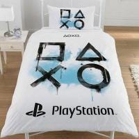 Official PlayStation Inkwash Reversible Duvet Cover Set