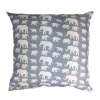 grey elephants scatter cushion cover 60cm x cushion