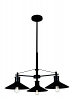 black down facing 3 light metal chandelier home decor