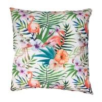 tropical flamingo scatter cushion cover 60cm x cushion