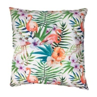 tropical flamingo scatter cushion cover with inner 60cm x cushion