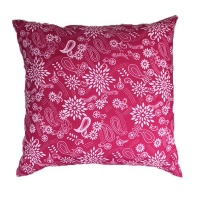 pink paisley scatter cushion cover with inner 60cm x cushion