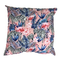 pink zebra scatter cushion cover with inner 60cm x cushion