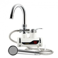 instant electric heating water faucet and shower bathroom