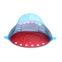 Iconix Portable Kids Whale Styled Pop up Beach Tent Blue