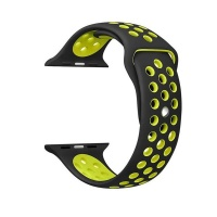 govogue active silicon apple watch band black and yellow accessory