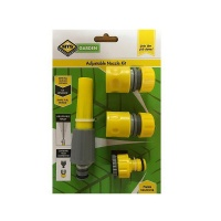 MTS Hose Pipe Fittings and Nozzle Set 4 Piece