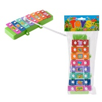 8 key xylophone and sticks assorted shapes electronic toy