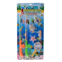 fishing game with two rods water toy