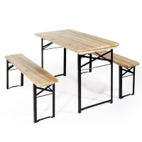 Verdelook Foldable Garden Table And Bench Set