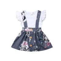 kittikin classic style dress and bodysuit baby girl set