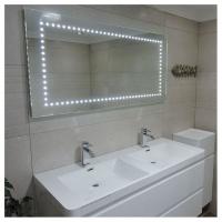 linea zero led bathroom mirror with ir sensor 120x60 mirror