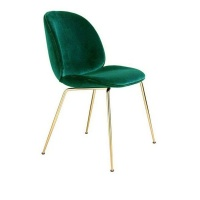 bespoke and co velvet beetle chair emerald green chair