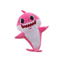 30cm Baby Shark Plush Singing LED Light Plush Toys Pink