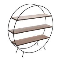 eco display rack round shape with 3 veneer shelves entertainment center