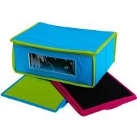 bulk pack x 3 storage box with window 30x20x12cm non woven mattress