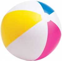 bulk pack x 3 intex beach ball 61cm glossy panel water toy