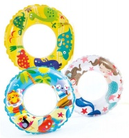 bulk pack x 3 intex swim ring 61cm transparent water toy