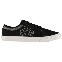 jack and jones mens ross trainers anthracite parallel shoe