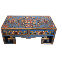 distressed hand painted solid wood coffee table entertainment center