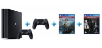 playstation 4 pro console extra dualshock controller 2