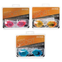bulk pack x 3 intex race pro swim goggles water toy