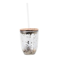 double wall with glitter tumbler straw and lid 350ml water bottle