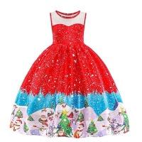 dhao girls dress christmas eve xmas snowflake holiday party