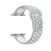 govogue active silicon apple watch band silver and white accessory