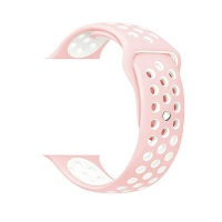 govogue active silicon apple watch band pink and white accessory