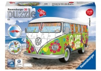 Ravensburger 3D Puzzle VW T1 Hippie Style Woodstock 50th Anniversary