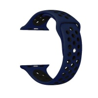 govogue active silicon apple watch band blue and black accessory