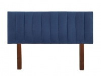 strohberry lincoln upholstered panel headboard royal blue mattress