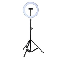 25cm dimmable led ring light lamp with 525cm stand camera accessory