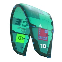 north kiteboarding duotone dice 5m 2018 green kite only