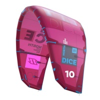 north kiteboarding duotone dice 6m 2018 red kite only