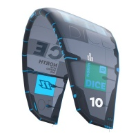 north kiteboarding duotone dice 12m 2018 black kite only