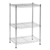 adjustable shelf chrome 3 tier spaceo 60x35x90cm entertainment center