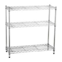 extensible shelf chrome 3 tier spaceo 90x35x90cm entertainment center