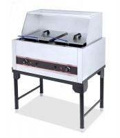 aloma double electric deep fryer 21l