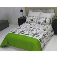 lush living home bedding set soft and snug size q se green duvet cover